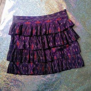 NWOT GAP Layered Purple Skirt Size 6